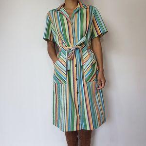Vintage 70's stripe dress